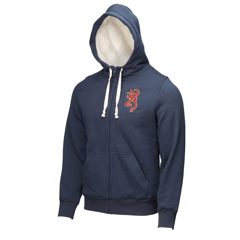 Sweatshirt browning snapshot zip bleu avec doublure fourrure