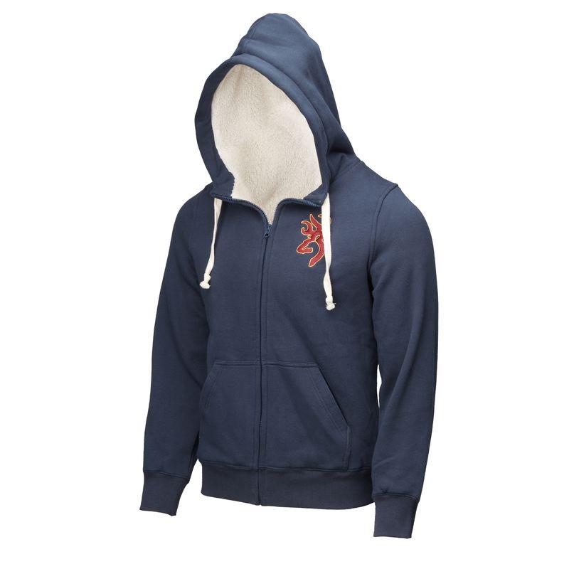 Sweatshirt de trap et tir browning snapshot zip bleu double