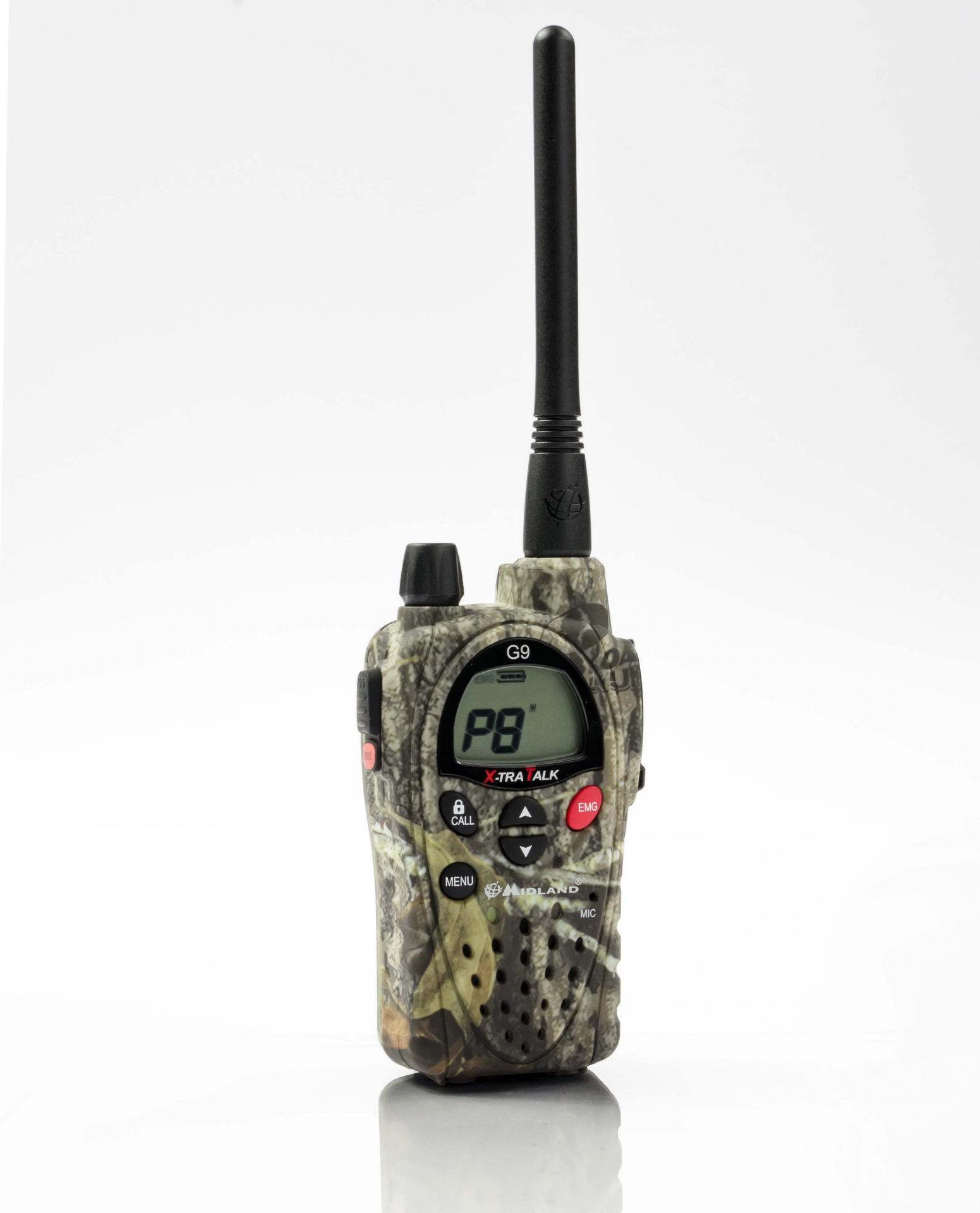 Talkie walkie midland g9 camo bi band double ptt