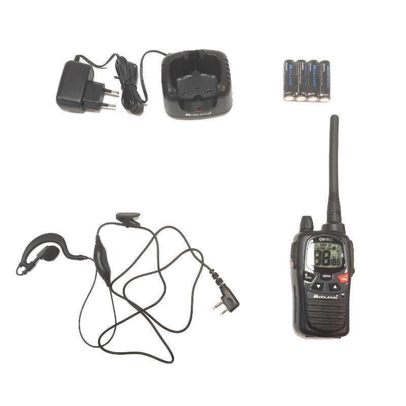 Talkie walkie Midland G9 pro avec kit oreillette