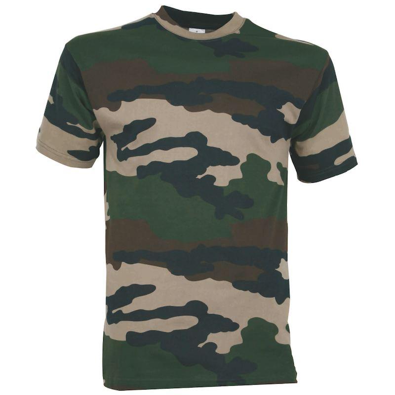 Tee shirt enfant percussion camo en coton 165 grammes au m2