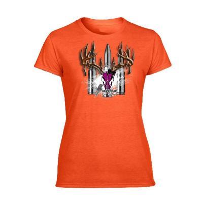 Tee Shirt femme orange Supra