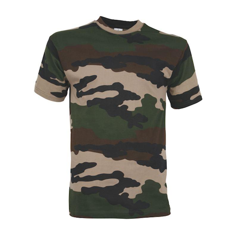 Tee shirt percussion camo ce en coton 165 grammes au m2
