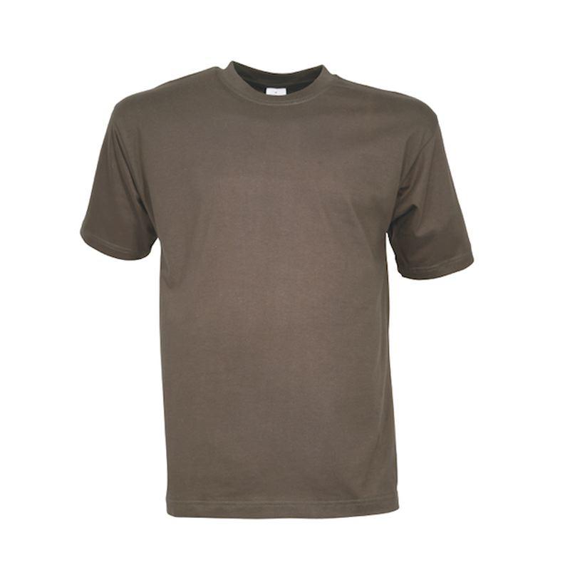 Tee shirt percussion kaki uni en coton 165 grammes au m2