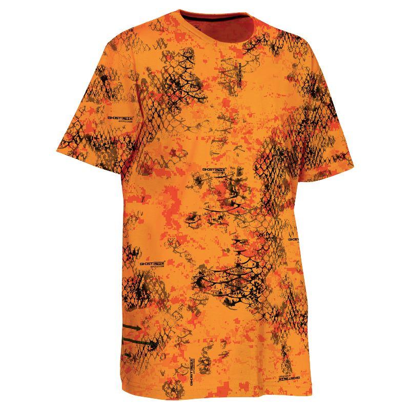Tee shirt verney carron tee snake camo snake blaze orange