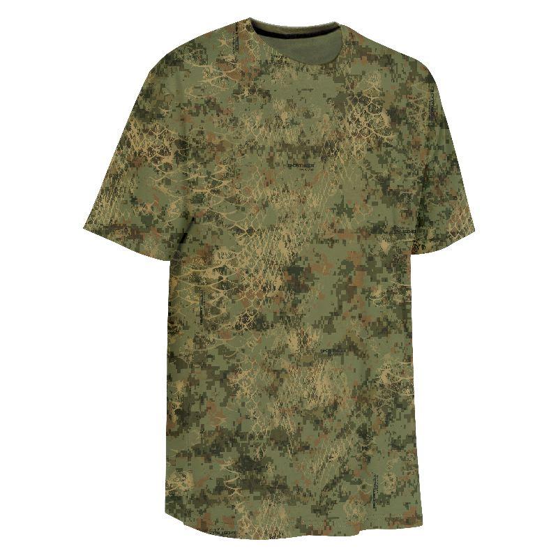 Tee shirt verney carron tee snake camo snake forest vert