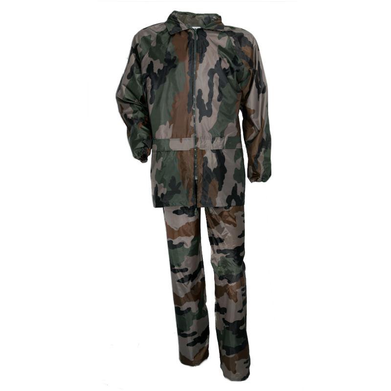 Tenue de chasse complete spe cial pluie camouflage percusion