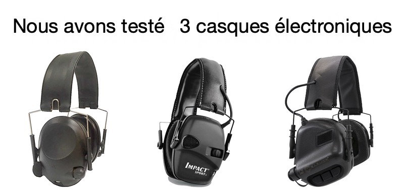 Teste de casque antibruit e lectronique