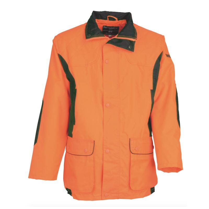 Veste chasse orange fluo traque renfort chasseur compagnie