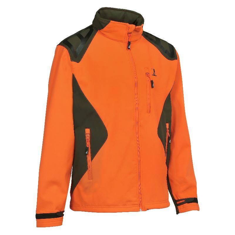 veste chasse percussion softshell orange et kaki pas cher. Black Bedroom Furniture Sets. Home Design Ideas