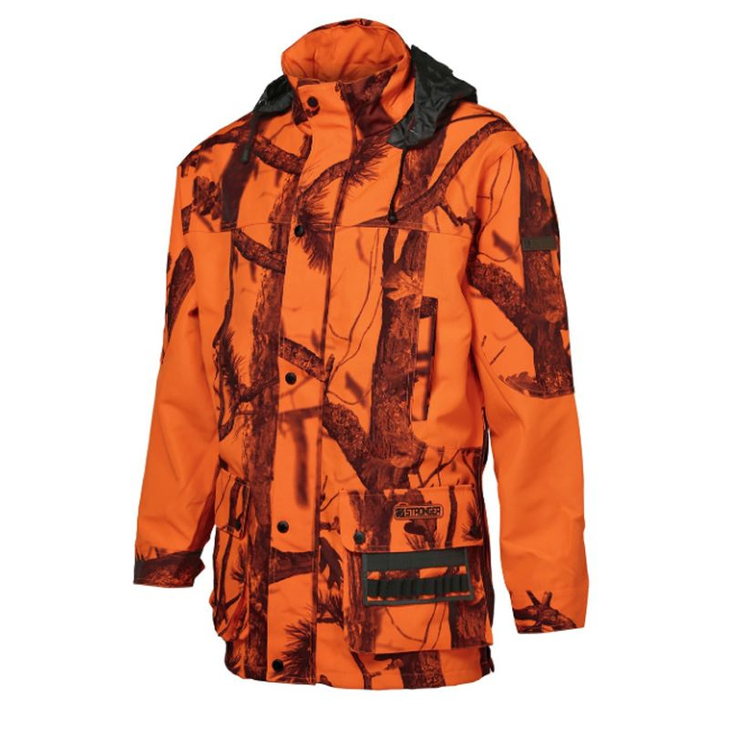Veste de chasse percussion stronger ghostcamo blaze black 1