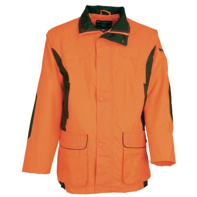 Veste de chasse traque percussion enfant orange fluo pas cher