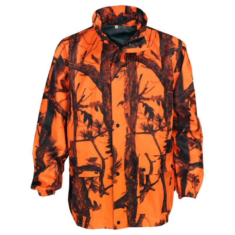 Veste de pluie camouflage orange chasse percussion 13105