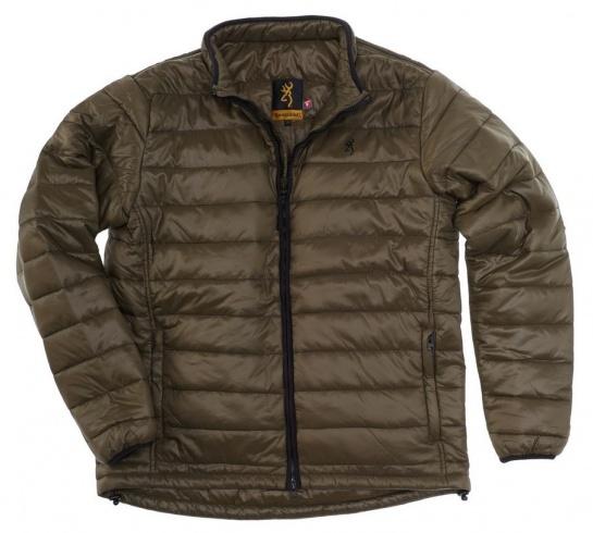Veste featherlight primaloft browning avec capuche d appoint escamotable renforts aux coudes poche carnier grandes poches cargo poche radio
