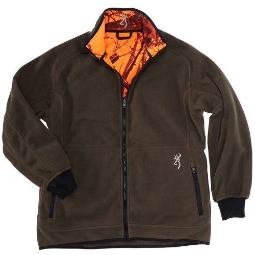 Veste polaire browning powerfleece re versible orange verte