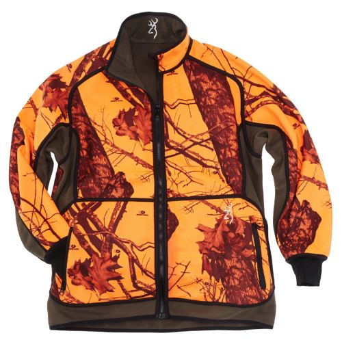 Veste polaire browning powerfleece re versible orange verte1