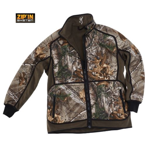 Veste polaire browning powerfleece re versible xtra vert