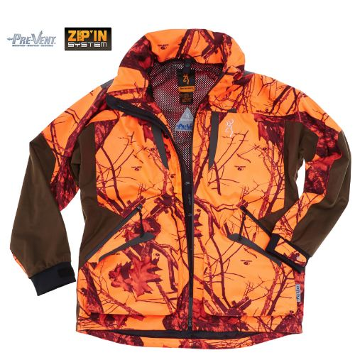 Veste xpo light zippin blaze orange browning chasse chasseur