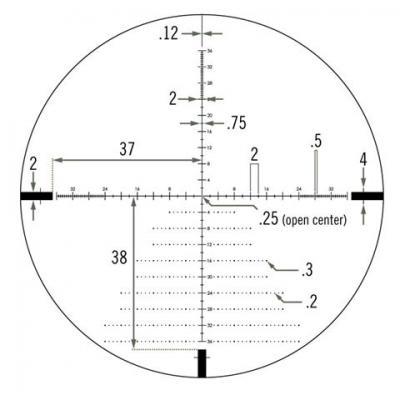 Vortex diamondback tactical 6 24x50 ffp rifle scope ebr 2c reticule moa