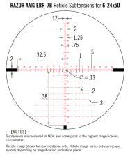 Vortex razor hd amg 6 24x50 ebr 7b ffp moa dimensions re ticule explication